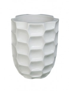 Pot & vaas Honey vase matt white 38   50