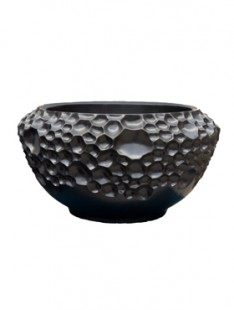 Pot & vaas Soap bowl black matt 46