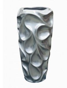 Pot & vaas Wave vase grey pearl 32   70