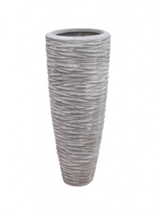 Polystone Rough Vase lava raw grey 37   90