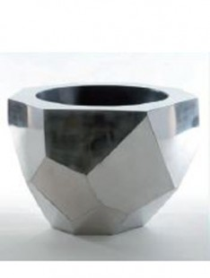 Indoor Pottery Facet bowl stainless steel  32 32 32