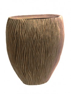 River Vase oval Bronze  100 50 120