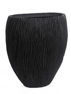 River Vase oval black  100 50 120