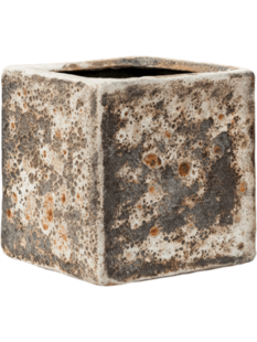Lava Cube relic rust metal (glazed inside) 16 16(12) 16(14)